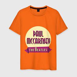 Футболка хлопковая мужская Paul McCartney: The Beatles цвета оранжевый — фото 1