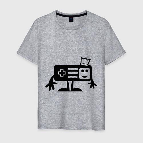 Мужская футболка Игроман / Меланж – фото 1
