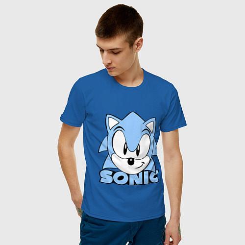 Мужская футболка Соник / Синий – фото 3