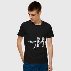 Футболка хлопковая мужская Daft Punk цвета черный — фото 2