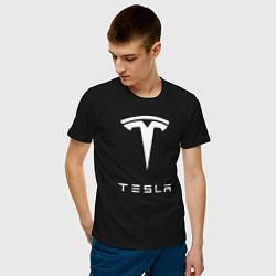 Футболка хлопковая мужская TESLA Mobile цвета черный — фото 2