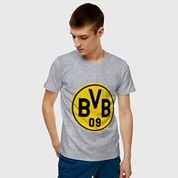 Футболка хлопковая мужская BVB 09 цвета меланж — фото 2