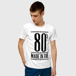 Футболка хлопковая мужская Made in the 80s цвета белый — фото 2
