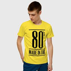 Футболка хлопковая мужская Made in the 80s цвета желтый — фото 2