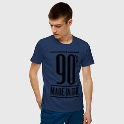 Футболка хлопковая мужская Made in the 90s цвета тёмно-синий — фото 2