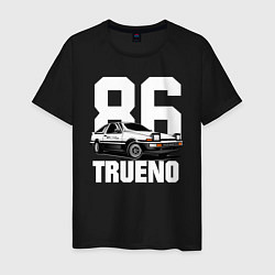 Мужская хлопковая футболка с принтом TRUENO 86, цвет: черный, артикул: 10170326500001 — фото 1