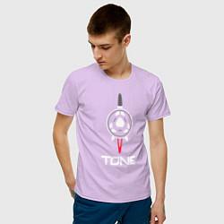 Футболка хлопковая мужская TONE цвета лаванда — фото 2
