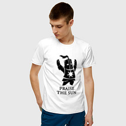 Футболка хлопковая мужская Praise the Sun цвета белый — фото 2