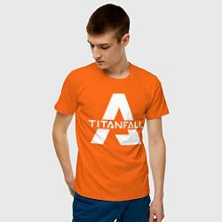 Футболка хлопковая мужская Apex Legends x Titanfall цвета оранжевый — фото 2
