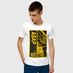 Футболка хлопковая мужская ASAP Rocky: Place Bell цвета белый — фото 2