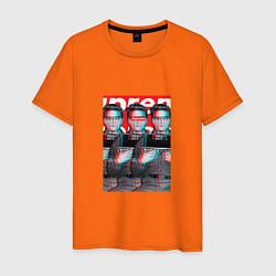 Футболка хлопковая мужская Supreme x Elvis Presley цвета оранжевый — фото 1