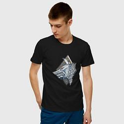 Футболка хлопковая мужская Space Wolves цвета черный — фото 2