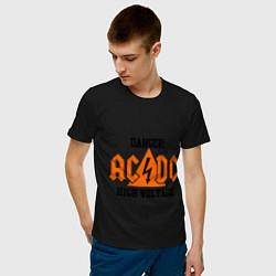 Мужская хлопковая футболка с принтом AC/DC: High Voltage, цвет: черный, артикул: 10017323700001 — фото 2