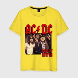 Мужская хлопковая футболка с принтом Girls got the rhythm, цвет: желтый, артикул: 10017324100001 — фото 1