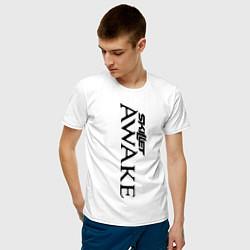 Мужская хлопковая футболка с принтом Skillet Awake, цвет: белый, артикул: 10017327800001 — фото 2