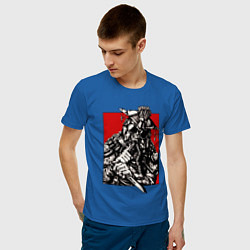 Футболка хлопковая мужская Apex Legends: Bloodhound Style цвета синий — фото 2