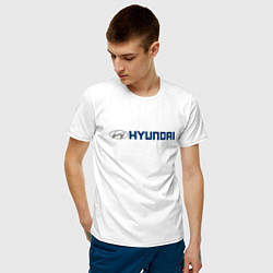 Футболка хлопковая мужская HYUNDAI цвета белый — фото 2