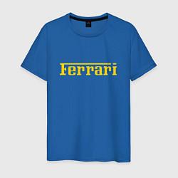 Футболка хлопковая мужская FERRARI цвета синий — фото 1