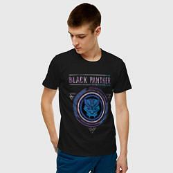 Футболка хлопковая мужская Черная пантера цвета черный — фото 2