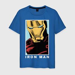 Футболка хлопковая мужская Iron Man цвета синий — фото 1