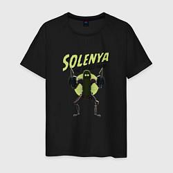 Футболка хлопковая мужская Solenya: The Pickle Man цвета черный — фото 1
