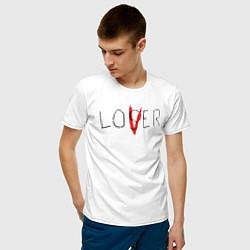 Футболка хлопковая мужская Lover цвета белый — фото 2