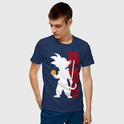 Футболка хлопковая мужская Dragon Ball Goku цвета тёмно-синий — фото 2