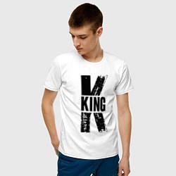 Футболка хлопковая мужская KING цвета белый — фото 2