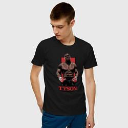 Футболка хлопковая мужская Tyson цвета черный — фото 2