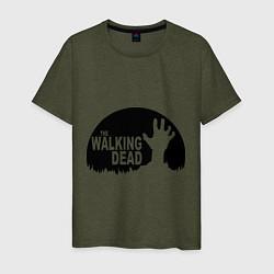 Мужская хлопковая футболка с принтом The Walking Dead, цвет: меланж-хаки, артикул: 10020753300001 — фото 1