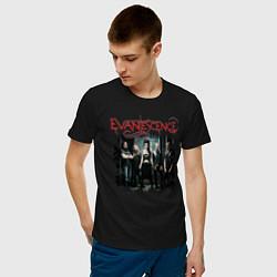 Футболка хлопковая мужская Evanescence цвета черный — фото 2