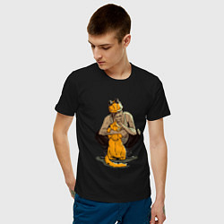 Футболка хлопковая мужская Внутри Лапенко цвета черный — фото 2