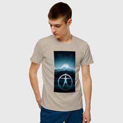 Футболка хлопковая мужская Westworld цвета миндальный — фото 2