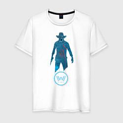 Футболка хлопковая мужская Westworld Chip цвета белый — фото 1