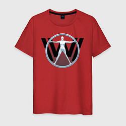 Футболка хлопковая мужская Westworld цвета красный — фото 1