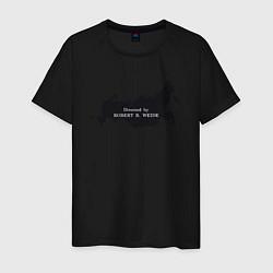 Мужская хлопковая футболка с принтом Россия Directed by Robert B, цвет: черный, артикул: 10212242500001 — фото 1