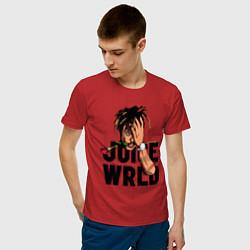 Футболка хлопковая мужская Juice WRLD цвета красный — фото 2