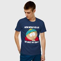 Футболка хлопковая мужская ЮЖНЫЙ ПАРК цвета тёмно-синий — фото 2