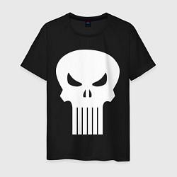 Мужская хлопковая футболка с принтом The Punisher Череп, цвет: черный, артикул: 10214678700001 — фото 1