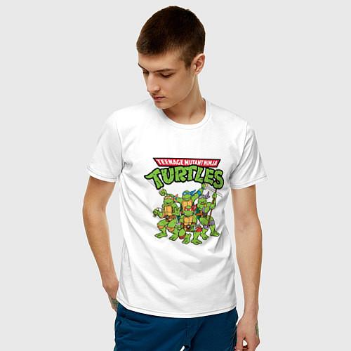 Мужская футболка Черепашки-ниндзя / Белый – фото 3