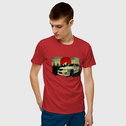 Футболка хлопковая мужская SUBARU цвета красный — фото 2