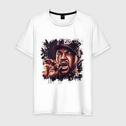 Футболка хлопковая мужская Ice Cube цвета белый — фото 1