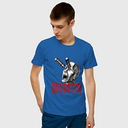 Футболка хлопковая мужская Кровосток цвета синий — фото 2