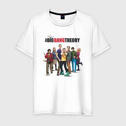 Футболка хлопковая мужская Heroes of the Big Bang Theory цвета белый — фото 1