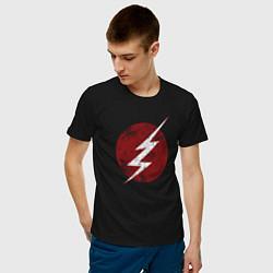 Футболка хлопковая мужская The Flash logo цвета черный — фото 2