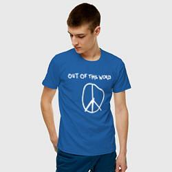 Мужская хлопковая футболка с принтом TRAVIS SCOTT, цвет: синий, артикул: 10220306900001 — фото 2