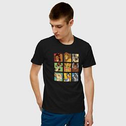 Футболка хлопковая мужская The Lion King Characters цвета черный — фото 2