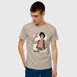 Футболка хлопковая мужская Аладдин цвета миндальный — фото 2