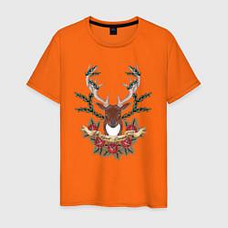 Футболка хлопковая мужская Kurort-Darasun цвета оранжевый — фото 1