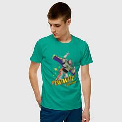 Футболка хлопковая мужская To infinity & beyond! цвета зеленый — фото 2